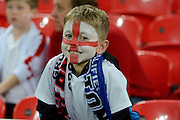 A young fan during the Group E UEFA European 2016 Qualifier match between England and Estonia at Wembley Stadium, London, England on 9 October 2015. Photo by Alan Franklin.