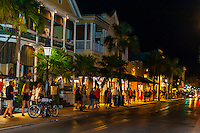 Duval Street at night, Key West, Florida Keys, Florida USA