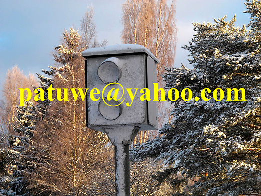 Scandinavia Finland speed control radar camera It is a common practise on Finnish expressway to control speed, monitoring traffic with flash camera. The camera covered with snow