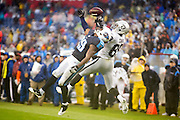 NASHVILLE, TN - NOVEMBER 29:  Perrish Cox #29 of the Tennessee Titans knocks away a pass thrown to Amari Cooper #89 of the Oakland Raiders at Nissan Stadium on November 29, 2015 in Nashville, Tennessee.  The Raiders defeated the Titans 24-21.  (Photo by Wesley Hitt/Getty Images) *** Local Caption *** Perrish Cox; Amari Cooper