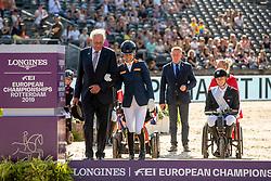 Podium Freestyle, Grade III, Silver medal, Van der Horst Rixt, NED<br /> European Championship Dressage<br /> Rotterdam 2019<br /> © Hippo Foto - Dirk Caremans