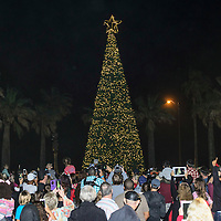 Tree Lighting and Santa arrival at the Hotel Galvez, Galveston, Tx. 11/20/15. (Photos by ©Kim Christensen)