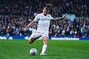 Leeds United midfielder Kalvin Phillips (23) passes the ball during the EFL Sky Bet Championship match between Leeds United and Queens Park Rangers at Elland Road, Leeds, England on 2 November 2019.