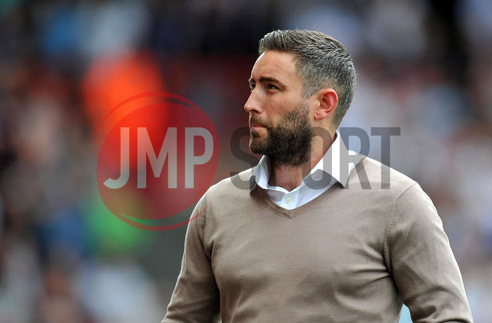 Bristol City head coach Lee Johnson looks up at the director's box - Mandatory by-line: Paul Knight/JMP - 17/09/2016 - FOOTBALL - Ashton Gate Stadium - Bristol, England - Bristol City v Derby County - Sky Bet Championship