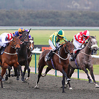Baileys Strider and Joe Fanning winning the 1.25 race