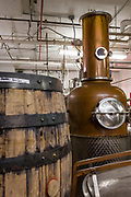 The tstill, a copper German brandy still, in the Van Brunt Stillhouse in Brooklyn's Red Hook neighborhood.