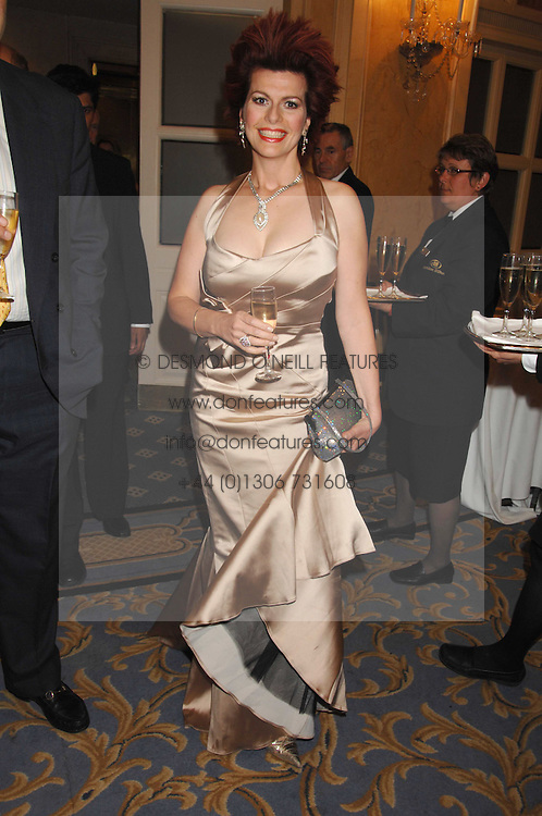 CLEO ROCCOS at the Eastern Eye Asian Business Awards 2007 in the presence of HRH The Duke of York at the Hilton Park Lane, London on 8th May 2007.<br />