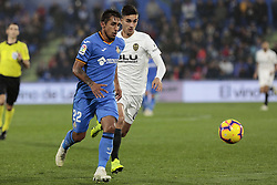 November 10, 2018 - Getafe, Madrid, Spain - Getafe CF's Damian Suarez during La Liga match between Getafe CF and Valencia CF at Coliseum Alfonso Perez in Getafe, Spain. November 10, 2018. (Credit Image: © A. Ware/NurPhoto via ZUMA Press)