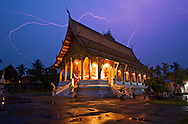 Louang Prabang is a beautiful town in central Laos. It's a UNESCO World Heritage site due to the large number of well preserved temples. It has a wonderful old-world feeling that is unfortunately getting trampled by an influx of tourists.