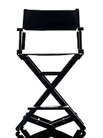 one director chair in silhouette on white background