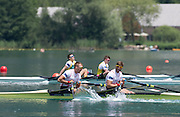 Aiguebelette, FRANCE.  GBR M2X. bow John COLLINS and Jonny WALTON. Sunday, B Finals at the  .  13:09:28  Sunday  22/06/2014. [Mandatory Credit; Peter Spurrier/Intersport-images]