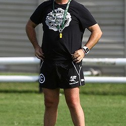 DURBAN, SOUTH AFRICA, Tuesday, 23rd February 2016 -  Gary Gold (Sharks Director of Rugby) during The Cell C Sharks  Media Interviews in The Sharks Gym,and<br /> Pre Season training for the 2016 Super Rugby Season at Growthpoint Kings Park in Durban, South Africa. (Photo by Steve Haag)<br /> images for social media must have consent from Steve Haag