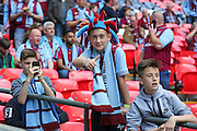 Young Aston Villa fan during the The FA Cup match between Arsenal and Aston Villa at Wembley Stadium, London, England on 30 May 2015. Photo by Phil Duncan.