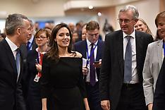 Angelina Jolie visits NATO - Brussels - 5 Feb 2018