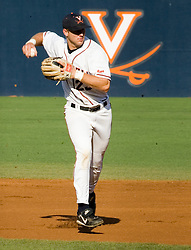 Virginia Cavaliers infielder David Adams (23) throws to first.  The Oregon State Beavers defeated the Virginia Cavaliers 5-3 in Game 6 of the NCAA World Series Charlottesville Regional held at Davenport Field in Charlottesville, VA on June 4, 2007.