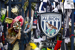 Detail of a Cyrille Regis memorial ahead of the Premier League match at The Hawthorns, West Bromwich.