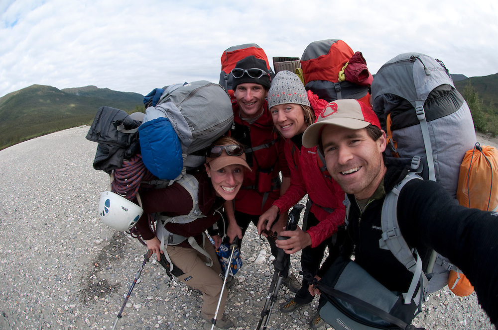Cortney Kitchen, Tobey Carman, Kate Rutherford, Mikey Schaefer, Arrigetch Peaks, Brooks Range, AK