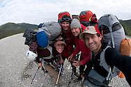 Cortney Kitchen, Tobey Carman, Kate Rutherford, Mikey Schaefer, Arrigetch Peaks, Brooks Range, AK