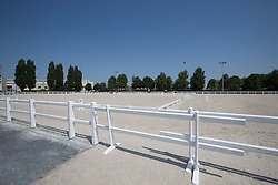 Warm up arena's<br /> WEG Test event dressage - Caen 2014<br /> © Hippo Foto - Leanjo de Koster