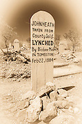 Graves at Boothill Graveyard, Tombstone, Arizona USA