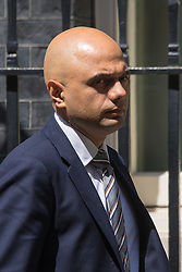 Downing Street, London, June 16th 2015. Business Secretary Sajid Javid leaves 10 Downing Street following the weekly cabinet meeting.