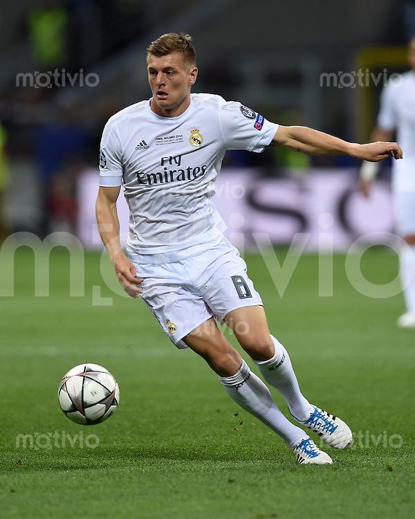 FUSSBALL  CHAMPIONS LEAGUE  FINALE  SAISON 2015/2016   Real Madrid - Atletico Madrid                   28.05.2016 Toni Kroos (Real Madrid)