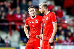 Will Vaulks of Wales and Paul Dummett of Wales - Mandatory by-line: Robbie Stephenson/JMP - 20/03/2019 - FOOTBALL - The Racecourse Ground - Wrexham, United Kingdom - Wales v Trinidad and Tobago - International Challenge Match