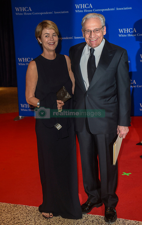 Writer Elsa Walsh (L) and journalist Bob Woodward arrive for the White House Correspondents' Association (WHCA) dinner in Washington, D.C., on Saturday, April 29, 2017 (Photo by Riccardo Savi)  *** Please Use Credit from Credit Field ***