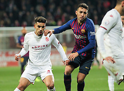 October 31, 2018 - Leon, Leon, Spain - Munir of Barcelona in action during the King Spanish championship, , football match between Cultural Leonesa and Barcelona, October 31, in Reino de Leon Stadium in Leon, Spain. (Credit Image: © AFP7 via ZUMA Wire)