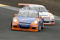 2009 Porsche Carrera Cup Great Britain.  Knockhill, Scotland, United Kingdom.  15th-16th August 2009. (1) - Tim Harvey - Red Line Racing.  World Copyright: Peter Taylor/PSP. Copy of publication required for printed pictures. Every used picture is fee-liable.