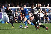 AFC Wimbledon attacker Egli Kaja (21) dribbling during the EFL Sky Bet League 1 match between AFC Wimbledon and Bury at the Cherry Red Records Stadium, Kingston, England on 5 May 2018. Picture by Matthew Redman.
