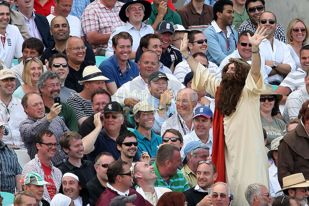 Not even divine intervention can save the series during day 2 of the fourth test match between England and India held at The Oval in Lambeth, London, England on the 19th August 2011...Photo by Ron Gaunt/SPORTZPICS/BCCI