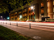 Henry Bellmon Research Center on the Oklahoma State University Campus at twilight