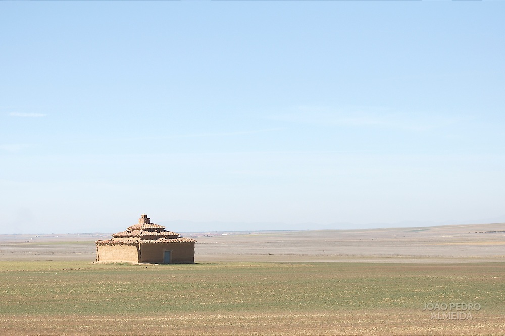 Traditional dovecote at the plains of Villafáfila, Spain.