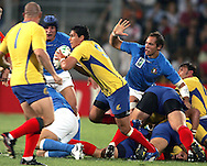 Marseille, FRANCE - 12th September 2007, Lucian Sirbu of Romania during the Rugby World Cup, pool C, match between Italy and Romania held at the Stade Velodrome in Marseille, France...Photo: Ron Gaunt/ Sportzpics