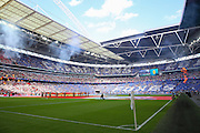 General view of the Stadium before kick off during the FA Community Shield match between Leicester City and Manchester United at Wembley Stadium, London, England on 7 August 2016. Photo by Phil Duncan.