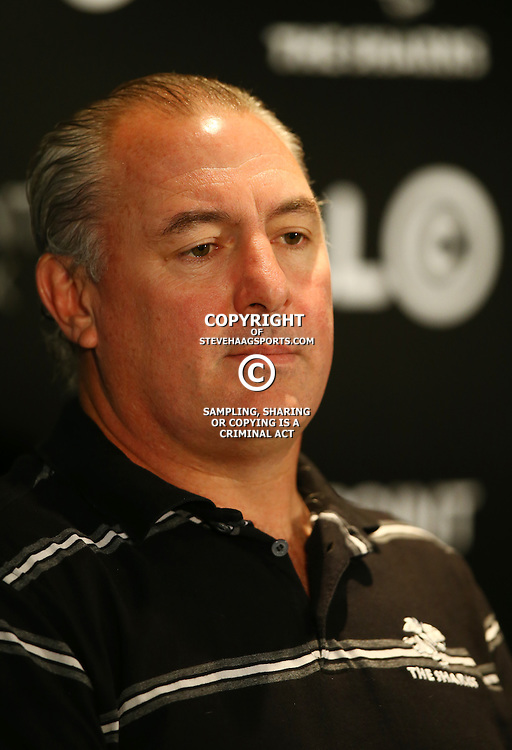 Durban ,Thursday 11th June 2015, Gary Gold (Sharks Director of Rugby) during the The Cell C Sharks Training and Press Con at Growthpoint Kings Park Stadium on Thursday 11th June 2015. (Photo by Steve Haag)
