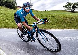 11.07.2019, Kitzbühel, AUT, Ö-Tour, Österreich Radrundfahrt, 5. Etappe, von Bruck an der Glocknerstraße nach Kitzbühel (161,9 km), im Bild Rafael Valls (ESP, Movistar Team) // Rafael Valls of Spain (Movistar Team) during 5th stage from Bruck an der Glocknerstraße to Kitzbühel (161,9 km) of the 2019 Tour of Austria. Kitzbühel, Austria on 2019/07/11. EXPA Pictures © 2019, PhotoCredit: EXPA/ Reinhard Eisenbauer