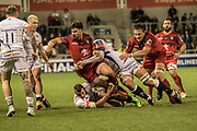 Toulouse attack during the European Rugby Challenge Cup match between Sale Sharks and Toulouse at the AJ Bell Stadium, Eccles, United Kingdom on 13 October 2017. Photo by George Franks.