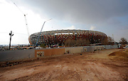 Construction of the Soccer City - FNB Stadium - in Johannesburg, South Africa, the venue for the 2010 South Africa FIFA World Cup Final