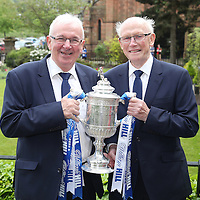 St Johnstone v Dundee United....18.05.14   William Hill Scottish Cup Final<br /> Tommy Campbell and Jocky Peebles pictured with the Scottish Cup<br /> Picture by Graeme Hart.<br /> Copyright Perthshire Picture Agency<br /> Tel: 01738 623350  Mobile: 07990 594431