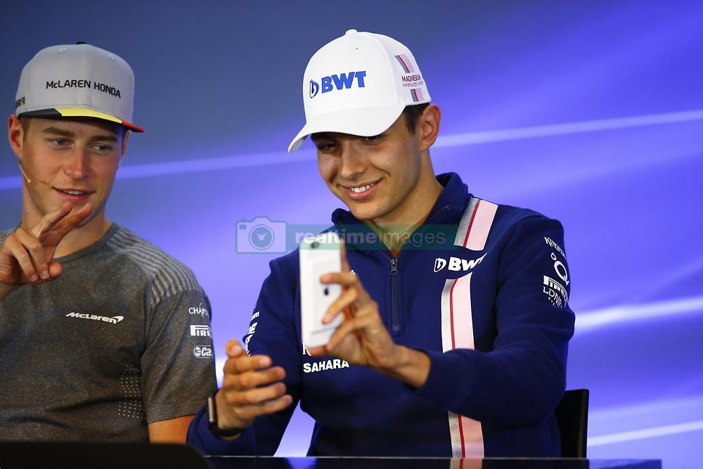 August 24, 2017 - Spa-Francorchamps, Belgium - Motorsports: FIA Formula One World Championship 2017, Grand Prix of Belgium, ..#2 Stoffel Vandoorne (BEL, McLaren Honda), #31 Esteban Ocon (FRA, Sahara Force India F1 Team) (Credit Image: © Hoch Zwei via ZUMA Wire)