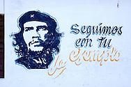 Image of Ernesto Che Guevara in Santa Lucia, Pinar del Rio, Cuba.
