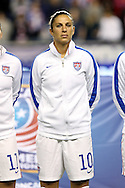 24 October 2014: Carli Lloyd (USA). The United States Women's National Team played the Mexico Women's National Team at PPL Park in Chester, Pennsylvania in a 2014 CONCACAF Women's Championship semifinal game, which serves as a qualifying tournament for the 2015 FIFA Women's World Cup in Canada. The United States won the game 3-0. With the victory the U.S. advanced to the championship game and qualified for next year's Women's World Cup.