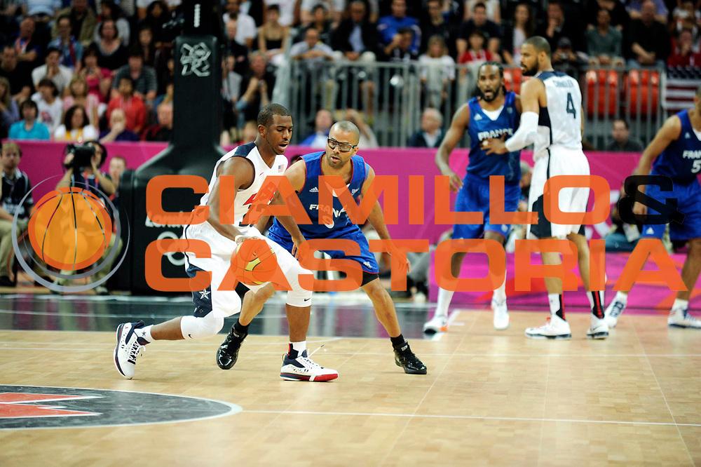 TDESCRIZIONE : France Basket Jeux Olympiques Londres <br /> GIOCATORE : PAUL Chris USA PARKER Tony FRA<br /> SQUADRA : USA Homme<br /> EVENTO : FRANCE basket Jeux Olympiques<br /> GARA : FRANCE USA<br /> DATA : 29 07 2012<br /> CATEGORIA : Basketball Jeux Olympiques<br /> SPORT : Basketball<br /> AUTORE : JF Molliere <br /> Galleria : France JEUX OLYMPIQUES 2012 Action<br /> Fotonotizia : France Basket Homme Jeux Olympiques Londres premier tour France Usa<br /> Predefinita :