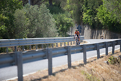Nikki Brammeier (GBR) of Boels-Dolmans Cycling Team descends on Stage 8 of the Giro Rosa - a 141.8 km road race, between Baronissi and Centola fraz. Palinuro on July 7, 2017, in Salerno, Italy. (Photo by Balint Hamvas/Velofocus.com)