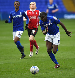 Birmingham City's Clayton Donaldson in action during the Sky Bet Championship match between Birmingham City and Rotherham United at St Andrew's Stadium on 3 April 2015 in Birmingham, England - Photo mandatory by-line: Paul Knight/JMP - Mobile: 07966 386802 - 03/04/2015 - SPORT - Football - Birmingham - St Andrew's Stadium - Birmingham City v Rotherham United - Sky Bet Championship