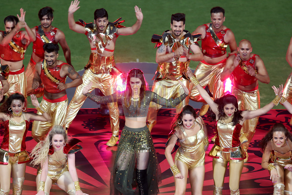 Bollywood actress Kriti Sanon performing at the opening ceremony during match 5 of the Vivo 2017 Indian Premier League between the Royal Challengers Bangalore and the Delhi Daredevils held at the M.Chinnaswamy Stadium in Bangalore, India on the 8th April 2017<br /> <br /> Photo by Faheem Hussain - IPL - Sportzpics