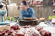 pork vendor, An Thoi market on the island's southern end