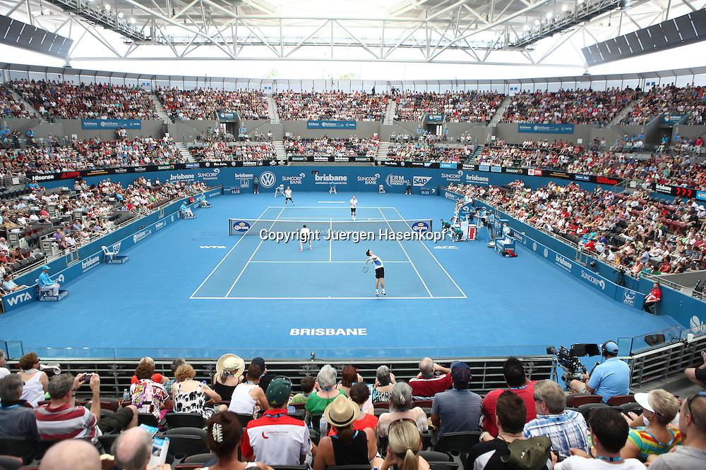 Brisbane International, Queensland Tennis Centre,ATP 250 World Tour WTA,Hardcourt Tennis Turnier in Brisbane,Pat Rafter Arena,Blick von oben auf den Centre Court,Querformat,Feature,
